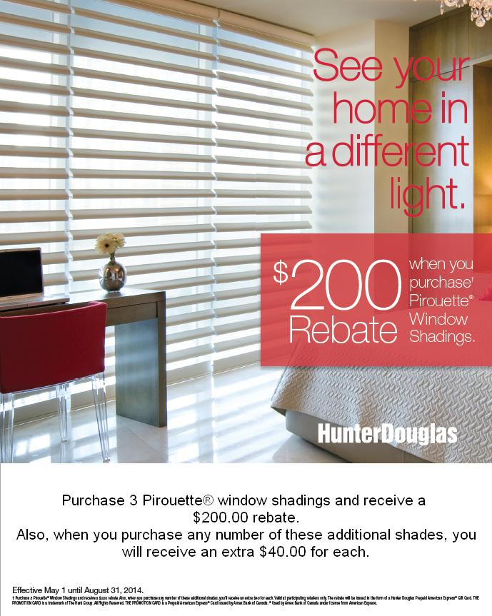 Hunter douglas discount coupons